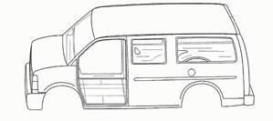full size van cut sheet